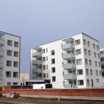 Kolme taloa Tammiontieltä päin. Kuva: Marja Valjus