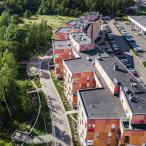 Ilmakuvaa Rantapuistosta. Kuva: Kuvatoimisto Kuvio, 2019.