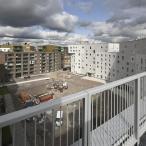 Näkymä As Oy Bysan kattoterassilta kohti Sandista. Kuva: Helsingin kaupungin Asuntotuotanto, kuvaaja: Pertti Nisonen