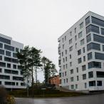 HASO Svanströminkujan julkisivua. Vasemmalla B-talo ja oikealla A-talo. Kuva: Pauliina Lehto.